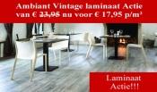 Vintage laminaat actie